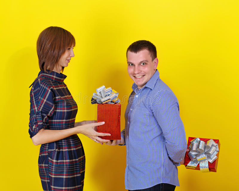 Donante de los regalos foto de archivo
