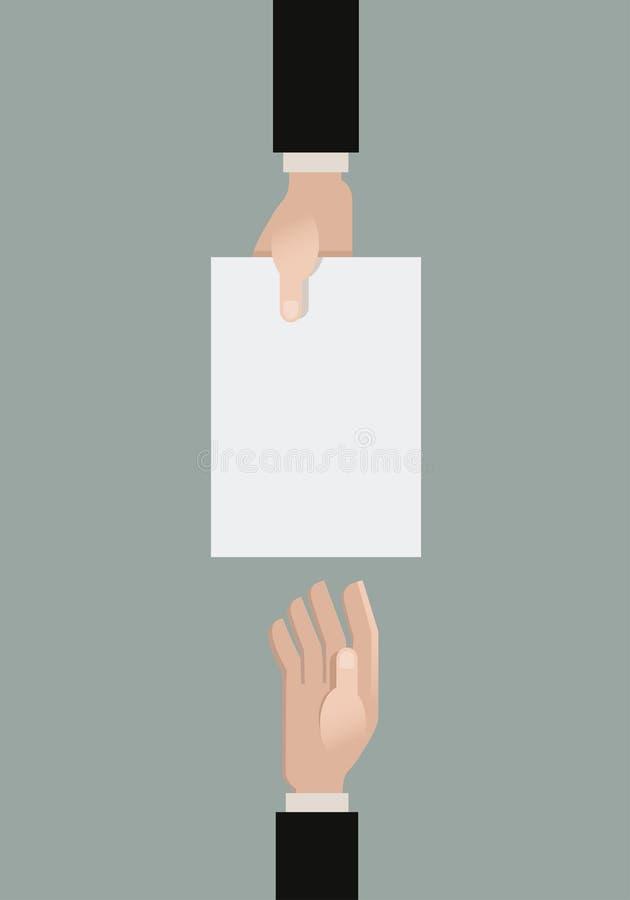 Donante de un papel stock de ilustración