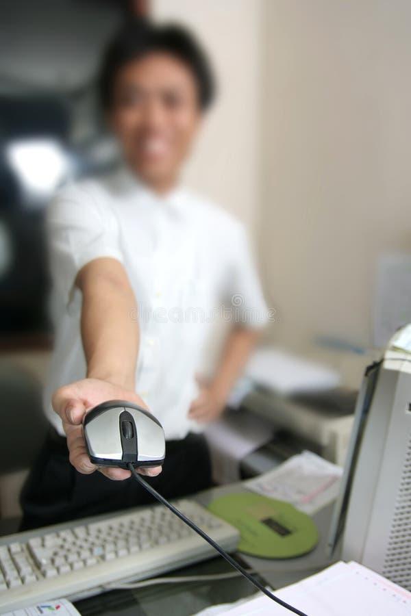 Donante del ratón del ordenador imagen de archivo libre de regalías