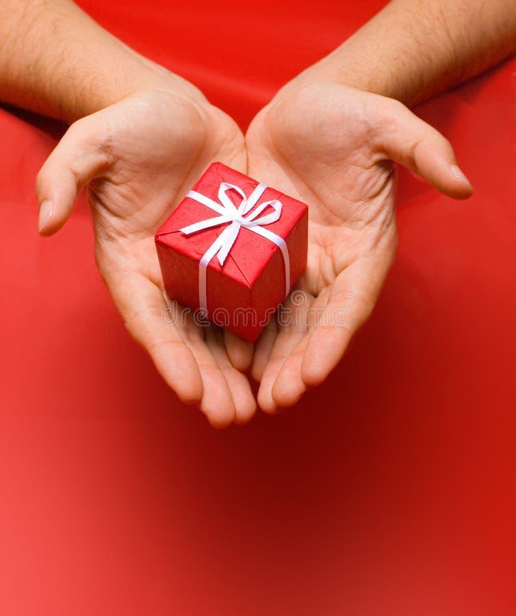 Donante del regalo de la Navidad imagen de archivo