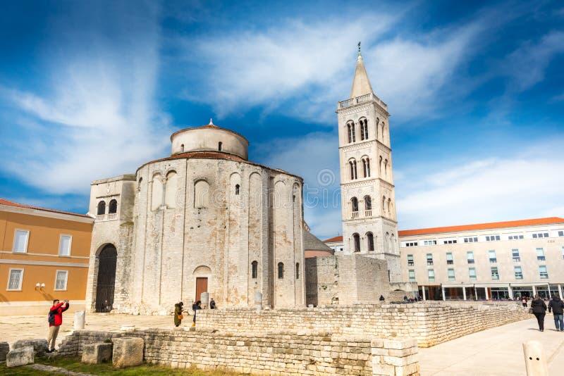 Donat e forum, Zadar fotografia stock libera da diritti