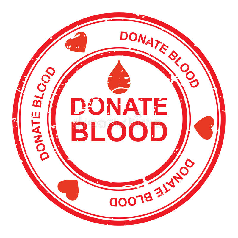 Donate blood. An illustration of a sign for blood donation stock illustration