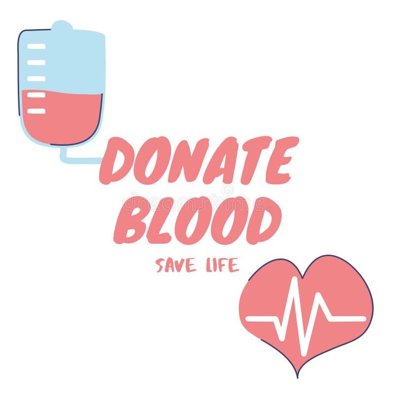 Donate Blood save life illustration on white background. stock photo