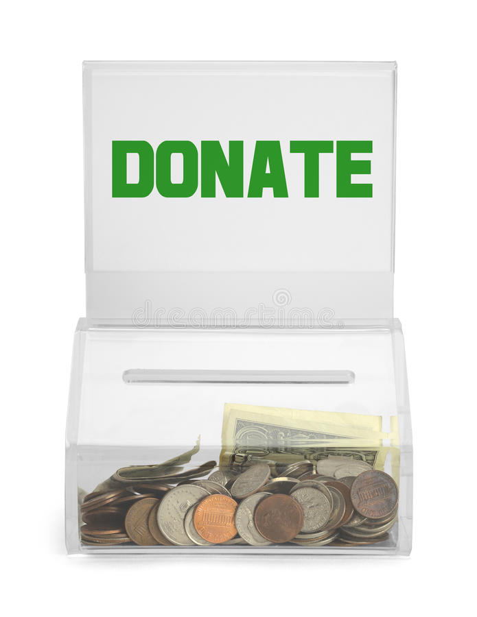 Donate boxas royaltyfria foton
