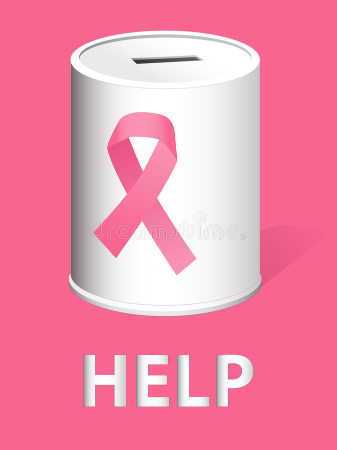 Donate for breast cancer research and prevention vector illustration