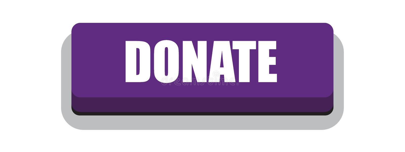 Donate button. Donate web button of vector illustration on isolated white background royalty free illustration