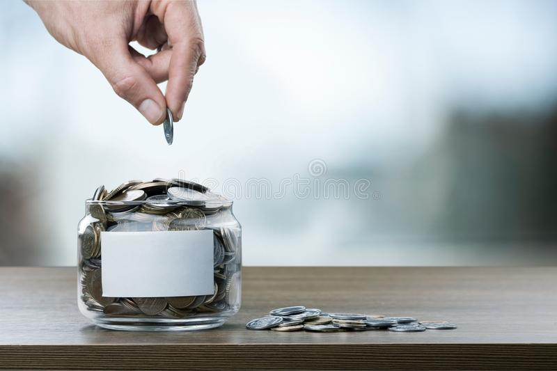 Donate. Money assistance bank cash change coin royalty free stock photos