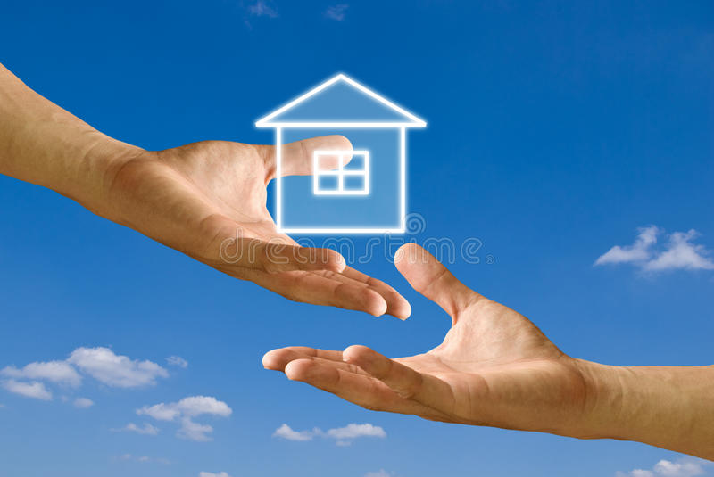 Donate House For Sufferer Royalty Free Stock Photography