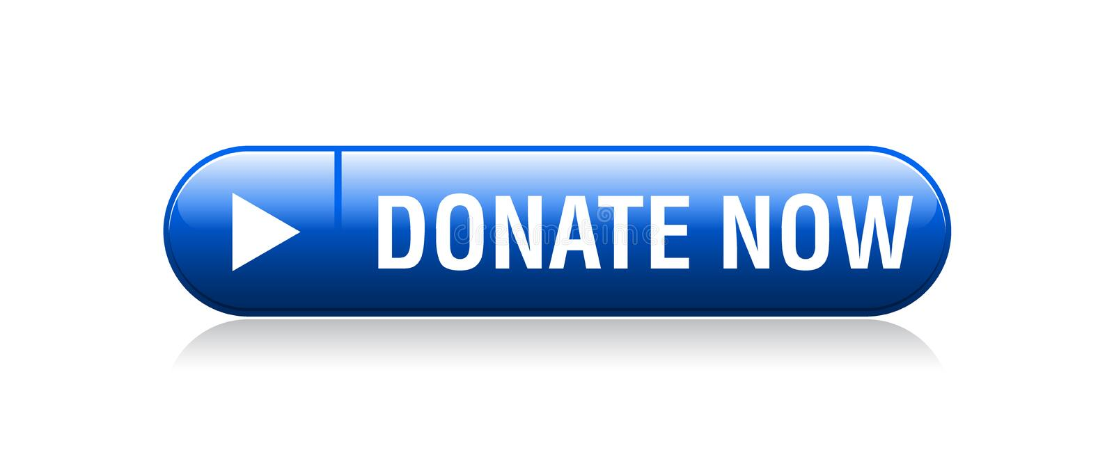Donate now button. Donate now web button - editable vector illustration on isolated white background stock illustration