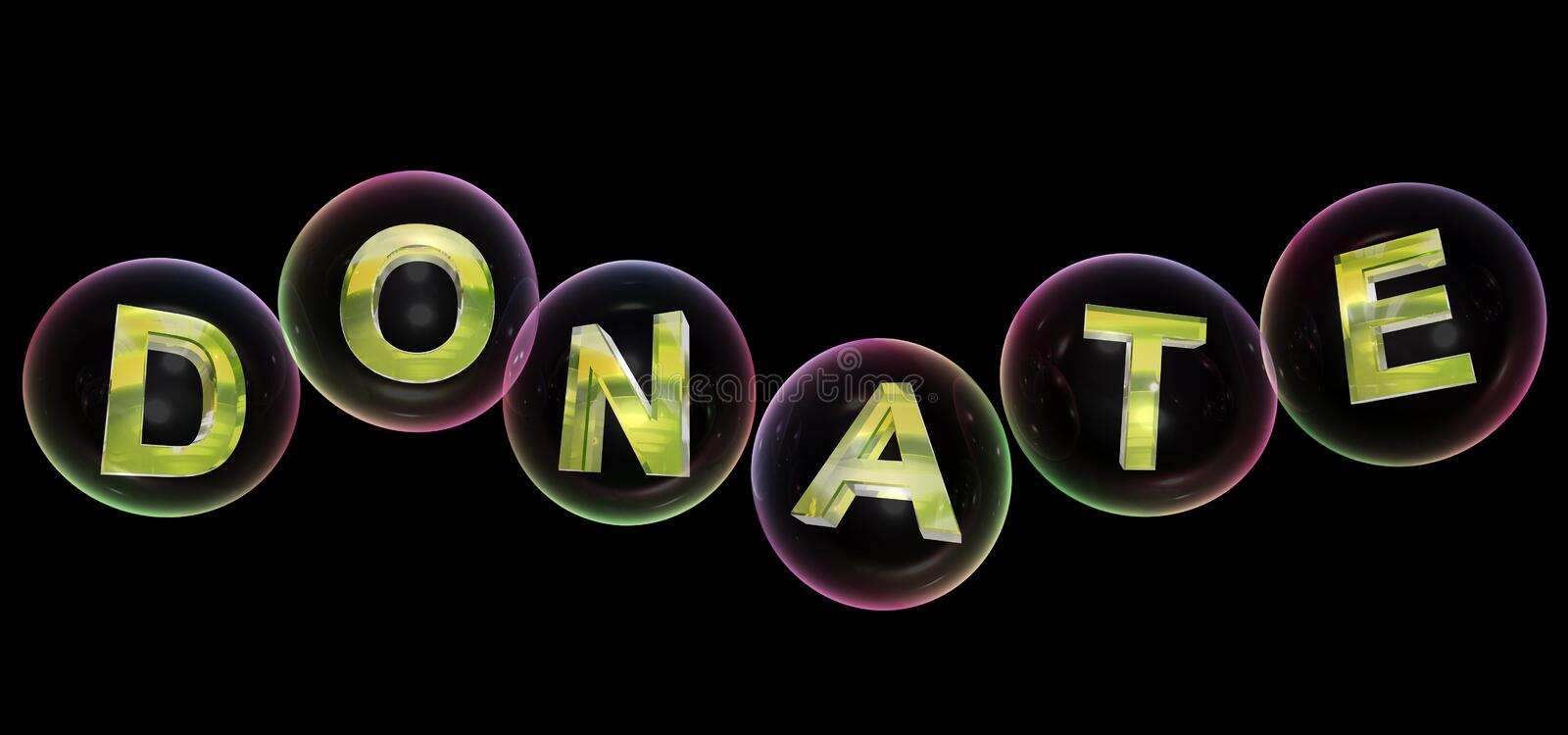 The donate word in bubble vector illustration