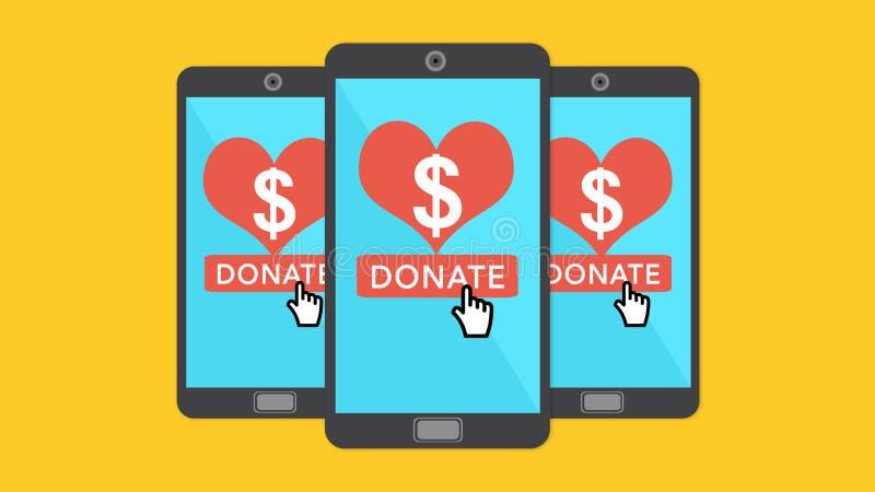 donation illustration stock
