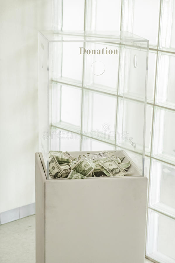 Donation Box royalty free stock images