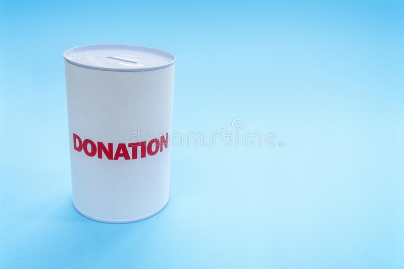 Donation box background with copy scape royalty free stock image