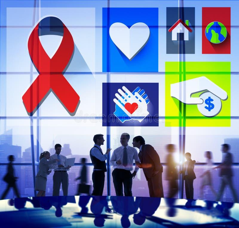 Donation de charité donnant le concept volontaire de aide illustration de vecteur
