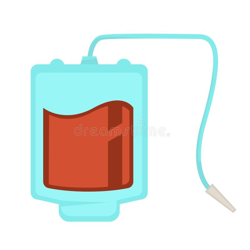 Donation de compte-gouttes de paquet de sang et aide médicale de soins de santé illustration libre de droits