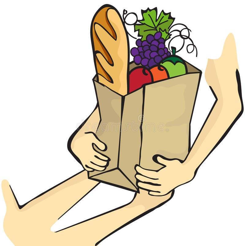 Donation de nourriture illustration stock