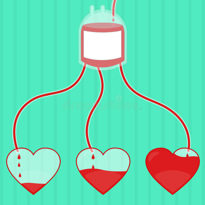 Donation de sang illustration libre de droits