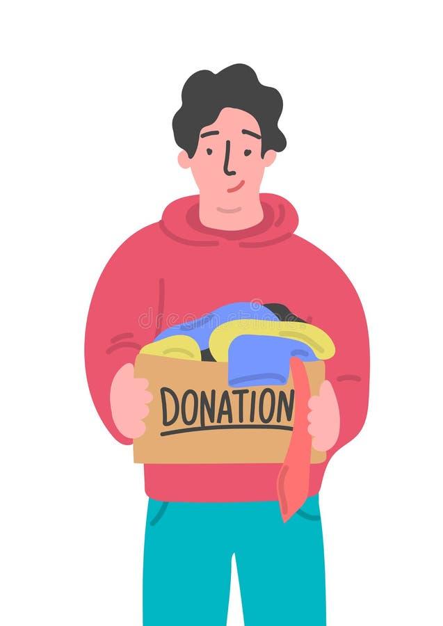 Donation de v?tements illustration libre de droits