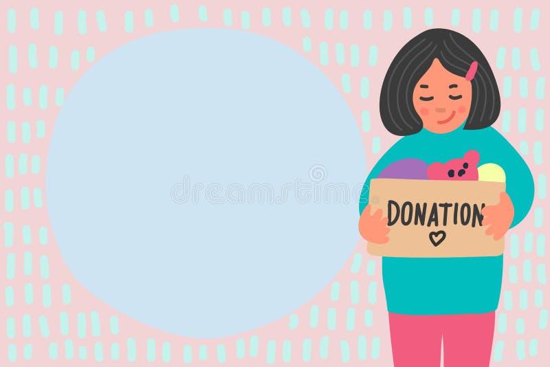 Donation de v?tements illustration stock