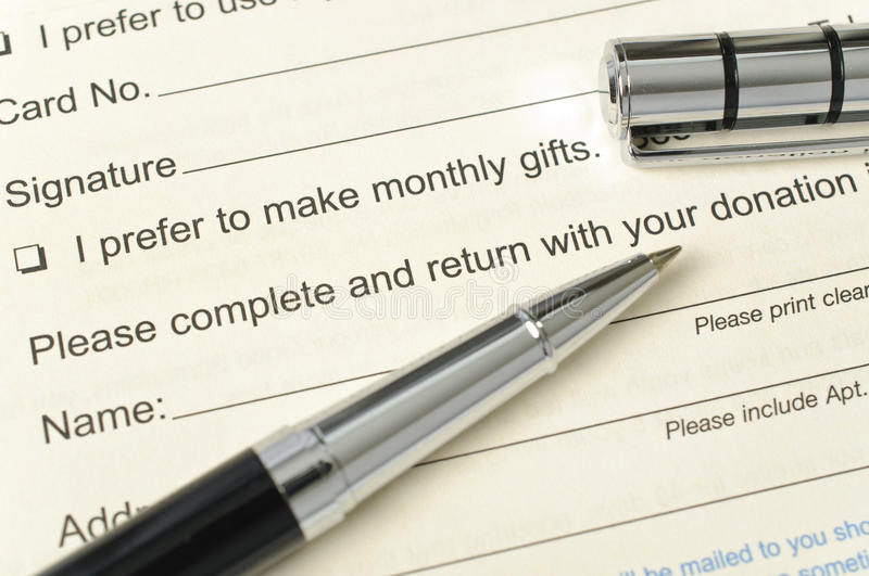 Download Donation Form Royalty Free Stock Photo - Image: 28314735