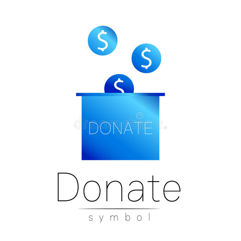 Donation Sign Icon Donate Money Box Charity Or Endowment Symbol