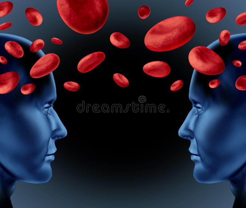 Donations de sang illustration stock