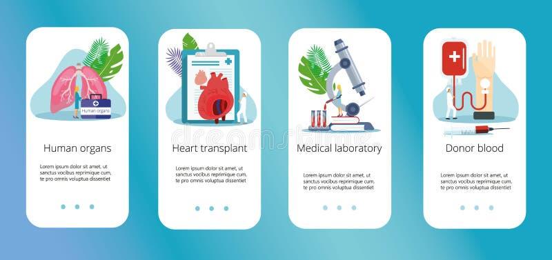 Donatore di organo umano in buona salute illustrazione vettoriale