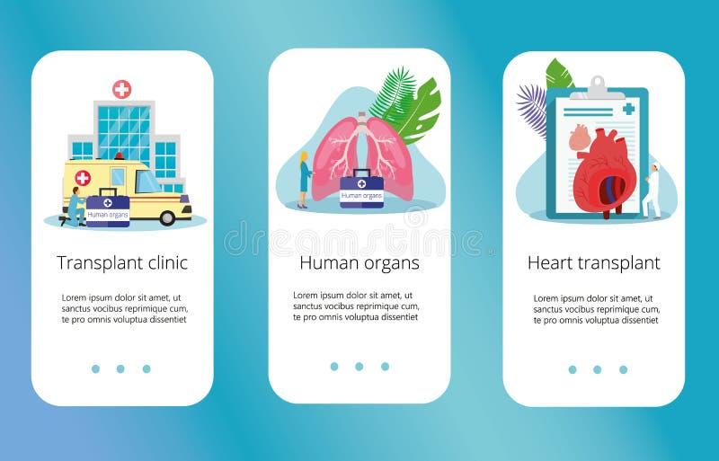 Donatore di organo umano in buona salute royalty illustrazione gratis