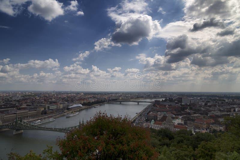 Donau-Ansicht in Budapest stockfoto