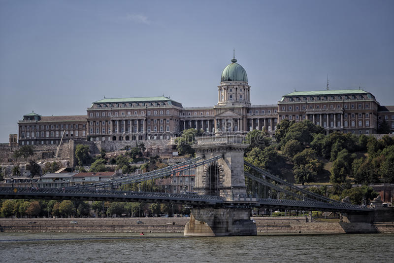 Donau-Ansicht in Budapest stockfotos