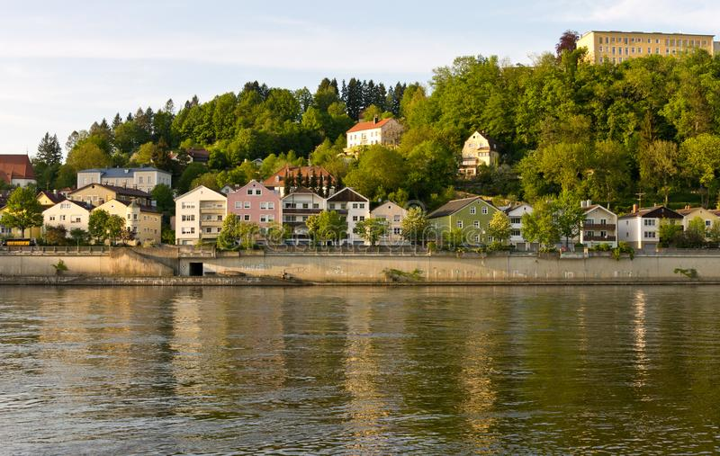 Donau-Bank-Festung Passau stockfoto