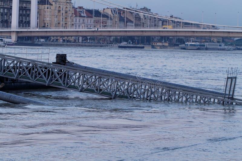 Donau in Boedapest stock afbeelding
