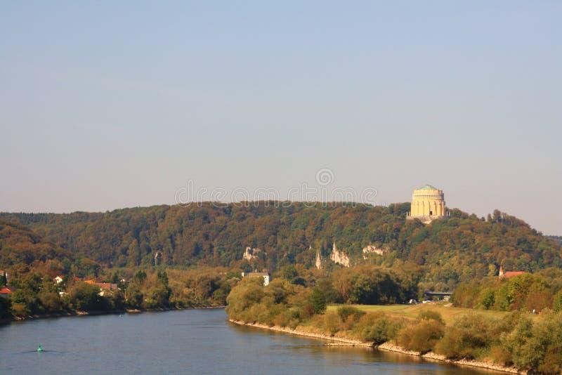 Donau in Kelheim (Deutschland) lizenzfreies stockfoto