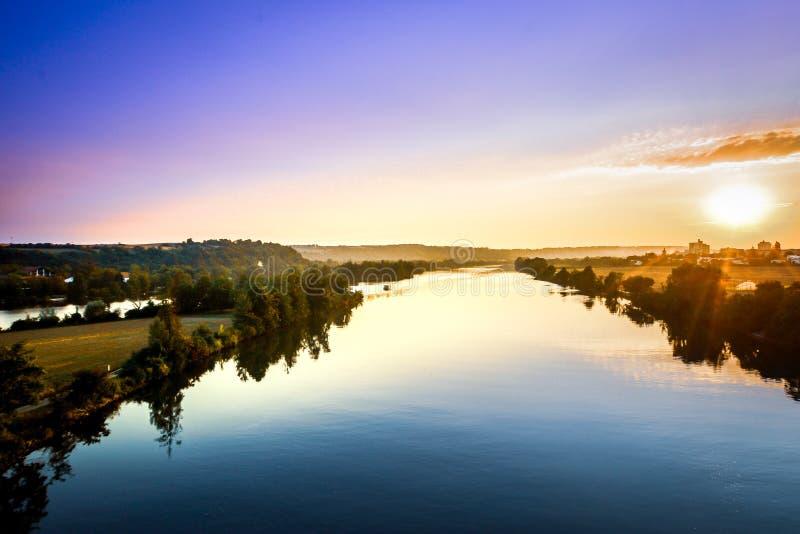 Donau landskap fotografering för bildbyråer