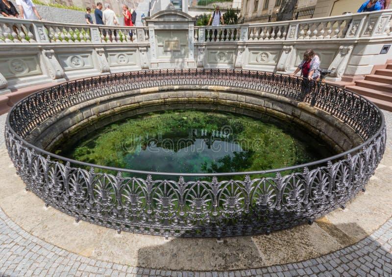 Donaueschingen, Deutschland - die Quelle von Donau stockfoto