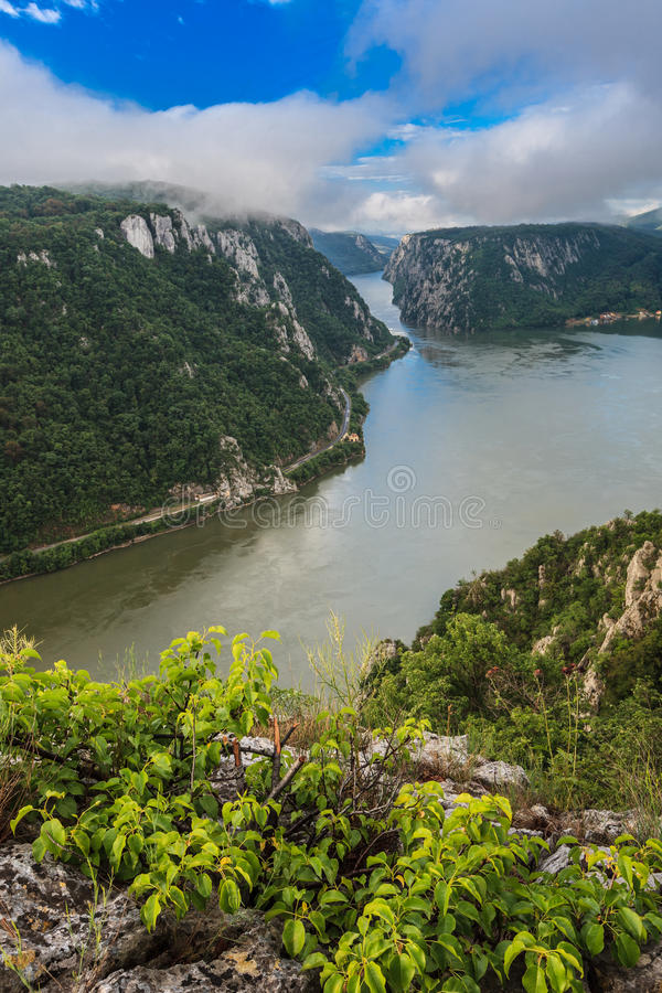 Donauklyftorna arkivbild