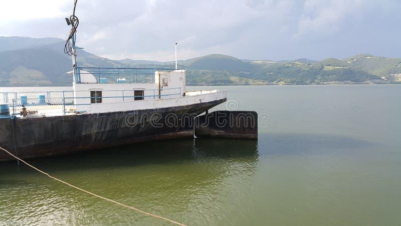 Donaukust på Gornji Milanovac royaltyfria foton