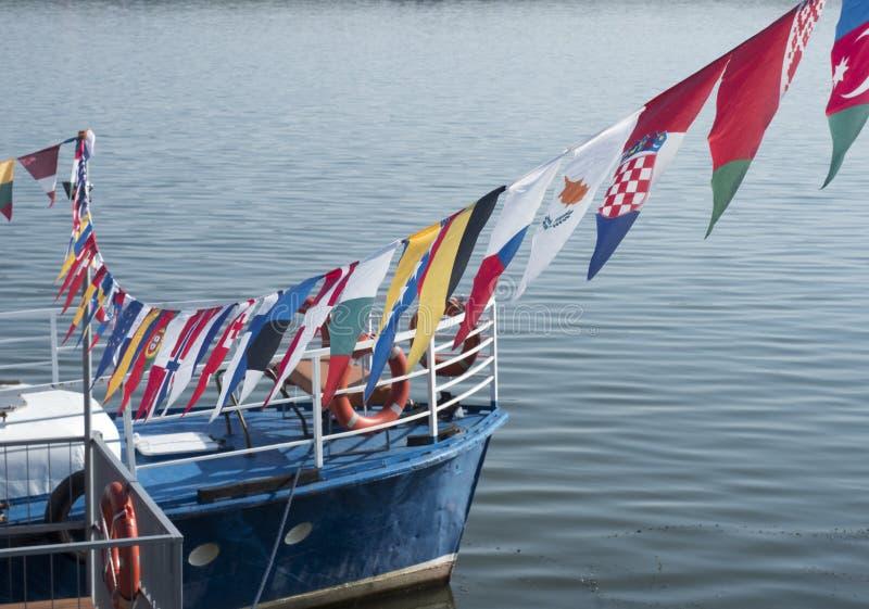 Donauport, Drobeta-Turnu Severin, Rumänien royaltyfria bilder