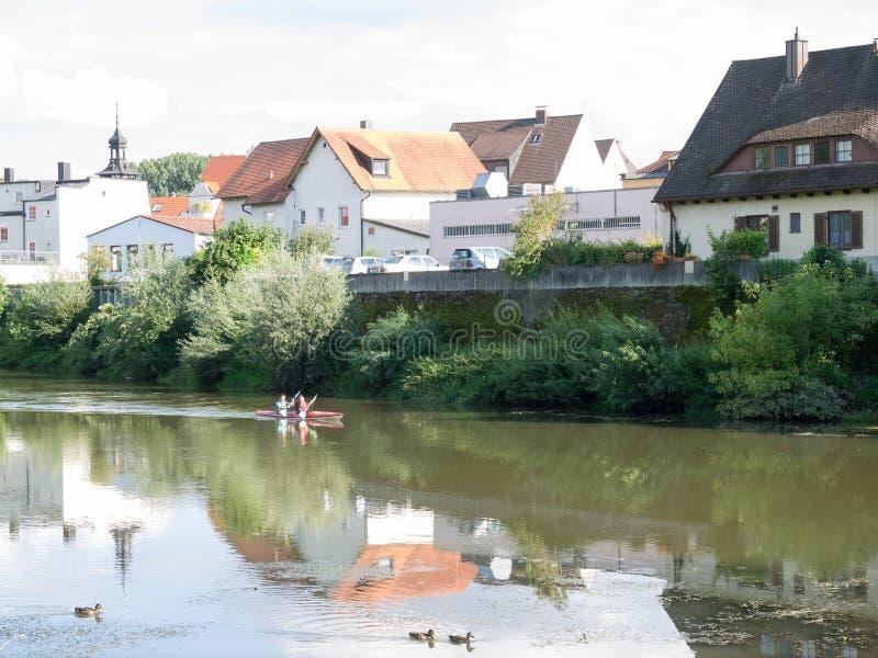 Donauworth en typisk bavarianstad i Tyskland arkivfoton