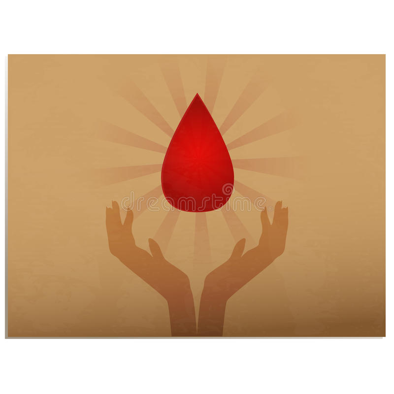 Donazione di sangue illustrazione di stock