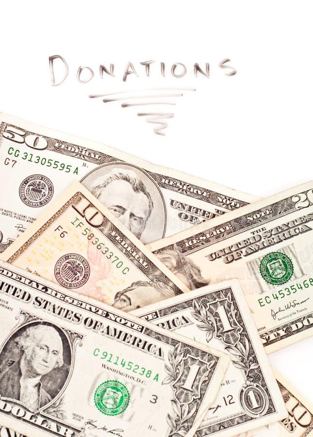 Donazioni caritatevoli immagine stock