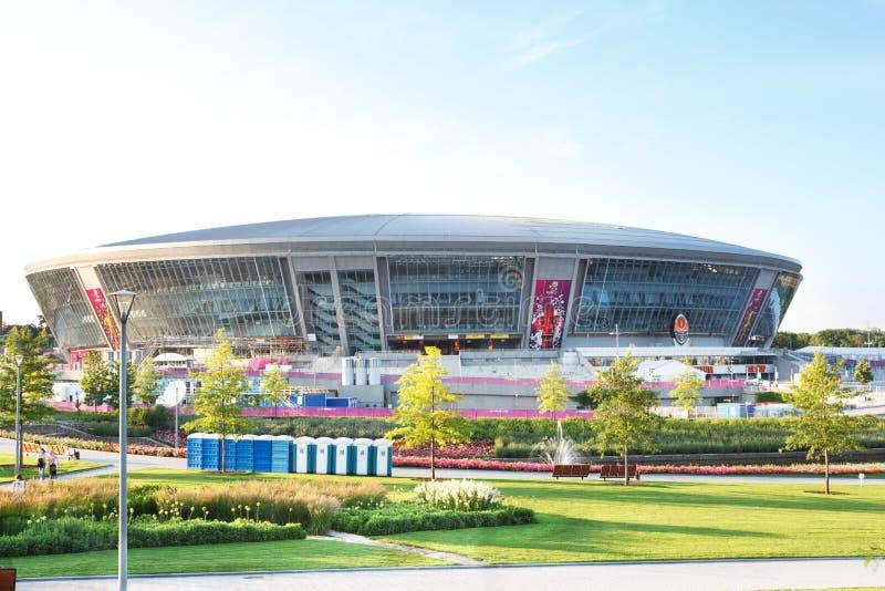 Donbass竞技场体育场在顿涅茨克,乌克兰 免版税库存照片