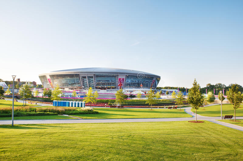 Donbass Arena stadium in Donetsk, Ukraine. Donbass Arena stadium ready to host Euro-2012 football matches in Donetsk, Ukraine royalty free stock images