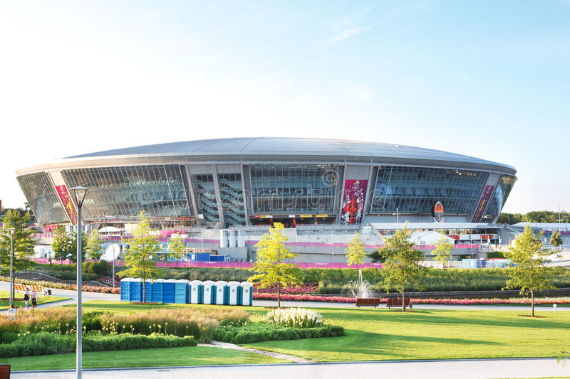 Donbass Arena stadium in Donetsk, Ukraine. Donbass Arena stadium ready to host Euro-2012 football matches in Donetsk, Ukraine royalty free stock photo