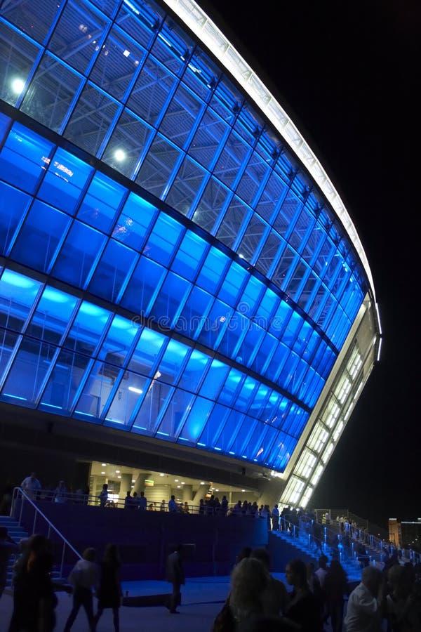 Donbass arena stadium, opening in Donetsk stock photos