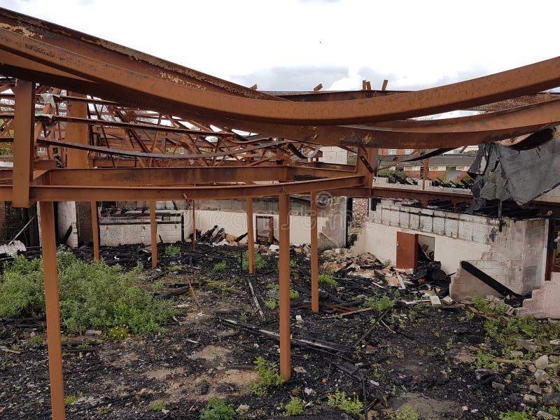 Doncaster abandonou a construção fotos de stock