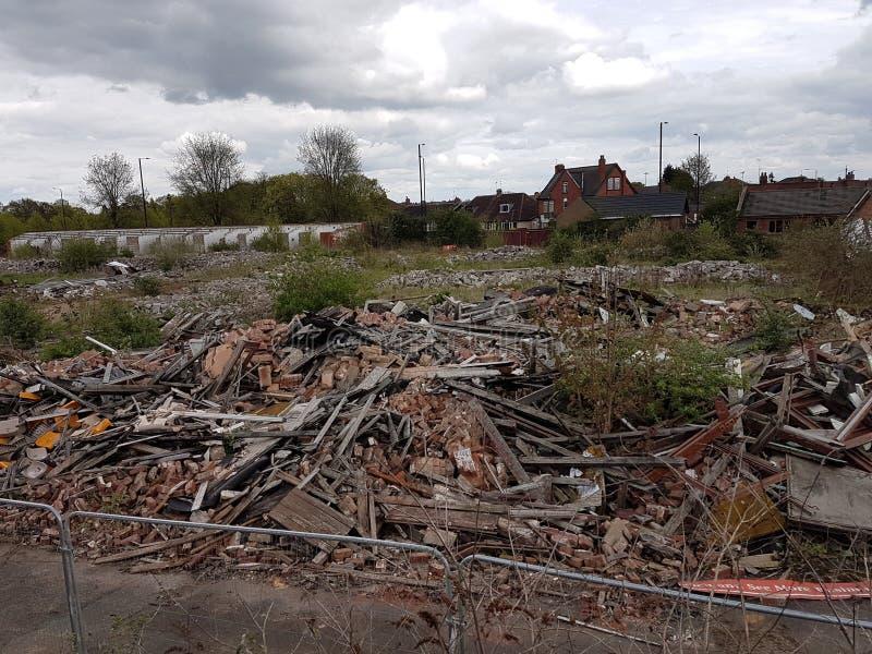Doncaster abandonou a construção foto de stock royalty free
