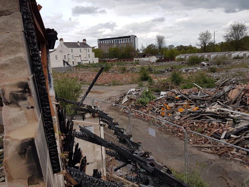 Doncaster abandonou a construção fotografia de stock royalty free