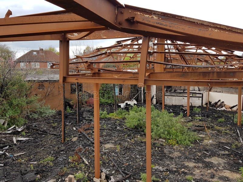Doncaster abandonou a construção fotos de stock royalty free