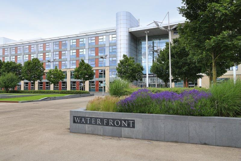 Doncaster College. DONCASTER, UK - JULY 12, 2016: Doncaster College building in the UK. Doncaster College has 13,500 students stock image